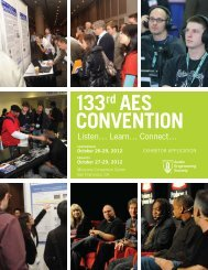 133rd AES ConvEntion - Audio Engineering Society