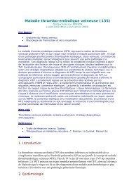 Maladie thrombo-embolique veineuse (135)