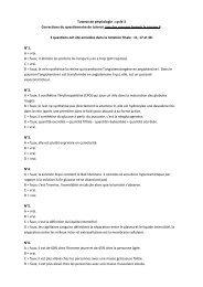 Tutorat de physiologie : cycle 3 Corrections du questionnaire de ...