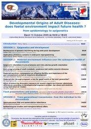 Developmental Origins of Adult Diseases: does foetal environment ...