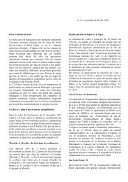 N° 45, février 1999 Interventions du mois Le Havre - Cedre