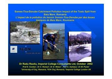 L'impact de la pollution du bassin Somes-Tisa-Danube par ... - Cedre