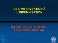 Du protocole OPRC-HNS à la convention HNS - Cedre
