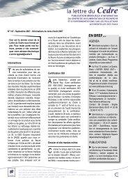 La lettre du Cedre N° 147 - Septembre 2007
