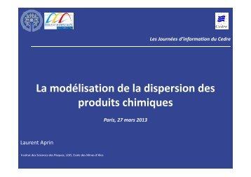 La modélisation de la dispersion des produits chimiques - Cedre