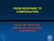 From response to compensation From the OPRC-HNS ... - Cedre