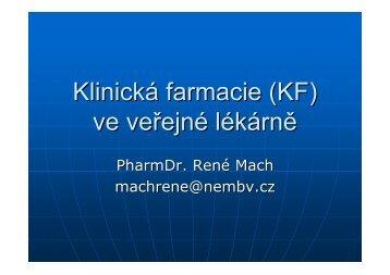 Klinická farmacie (KF) ve veřejné lékárně