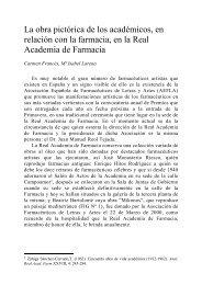 La obra pictórica de los académicos, en relación con la farmacia, en ...