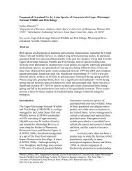 Fragmented Grassland Use by Avian Species of Concern in the ...