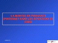 LA MONTEE EN PUISSANCE D'INTERNET DANS LES ... - Cedre