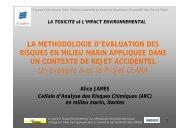 La méthodologie d'évaluation des risques en milieu marin ... - Cedre