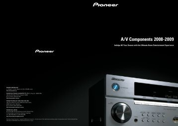 A/V Components 2008-2009 - Pioneer