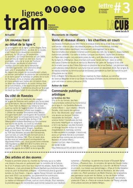 lettre du tramway - Cub