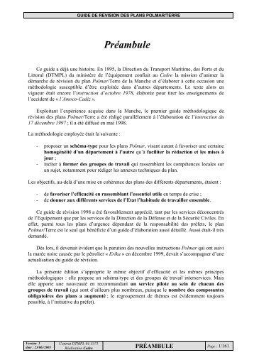 Guide de révision des plans Polmar-terre Coordination ... - Cedre