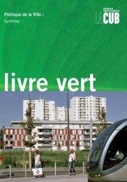 Livre vert d'agglomération - Cub