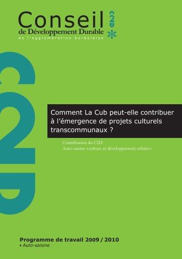 Rapport culture 2011 Texte + couverture .indd - Cub