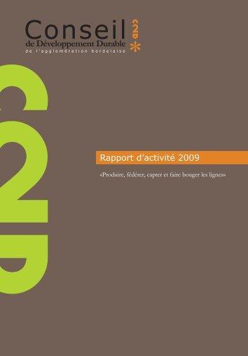 Rapport activite C2D - 2009.indd - La CUB