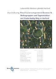 Realisierungswettbewerb Wohngruppen und ... - Dhp-sennestadt.de
