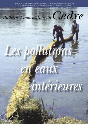 Les pollutions en eaux intérieures - Cedre