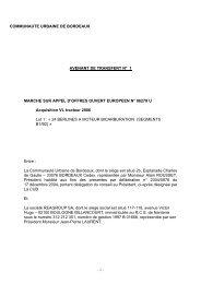 Marchés publics - Fusion absorption de REAGROUP ... - La CUB