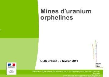 """""""orphelines"""" placées sous la responsabilité de l ... - DREAL Limousin"""