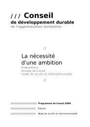propositions - La CUB