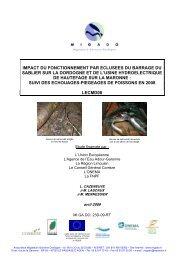 Impact du fonctionnement par éclusées du barrage du Sablier sur la ...