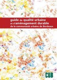 Guide de qualité urbaine - Cub