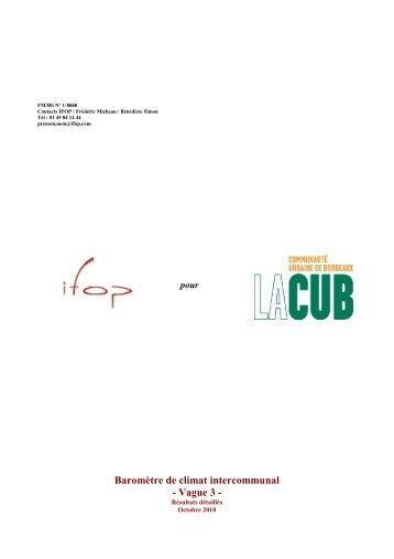 Octobre 2010 - La CUB