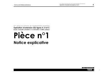 Pièce n°1 Notice explicative - La CUB