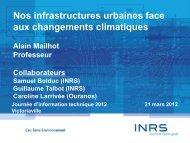 Alain Mailhot, INRS - GROBEC