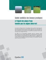 Guide synthèse des bonnes pratiques à l'égard des plans d'eau ...