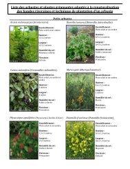 Liste des arbustes et plantes grimpantes adaptés à - GROBEC