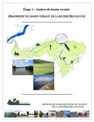 Diagnostic du bassin versant de la rivière Bécancour ... - GROBEC