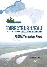 Portrait préliminaire du secteur Fleuve - GROBEC