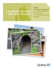 La gestion durable des eaux de pluie - CLD Laurentides
