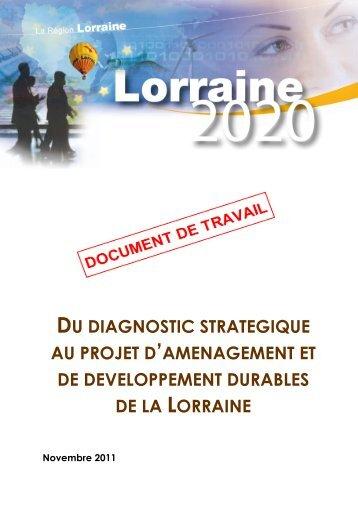 Du diagnostic stratégique au projet d'aménagement et de ...