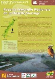 Réserve Naturelle Régionale de la Moselle Sauvage - Conseil ...