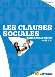 DANS LES MARCHÉS PUBLICS - Conseil Régional de Lorraine