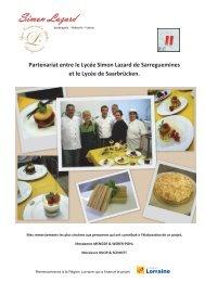 le livret franco-allemand de recettes - Conseil Régional de Lorraine