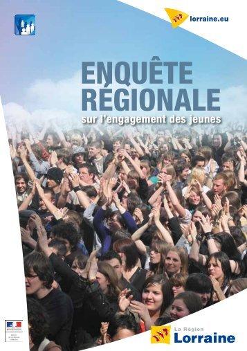 ENQUÊTE RÉGIONALE - Conseil Régional de Lorraine