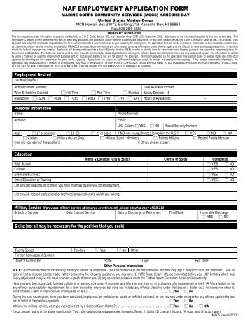 Family child care provider application completed - Marine Corps ...