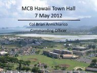 MCB Hawaii Brief 4 April 2012 - Marine Corps Community Services ...