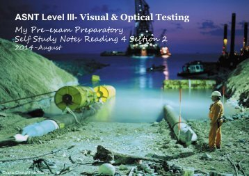 ASNT Level III- Visual & Optical Testing