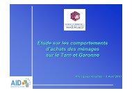 Les principaux résultats - (CCI) de Montauban