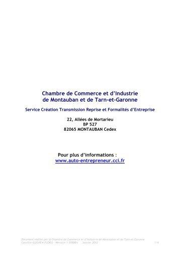 Le statut Auto-entrepreneur - (CCI) de Montauban