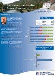 Baromètre du 2ème trimestre 2013 - (CCI) de Montauban