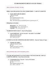 Contacts utiles - (CCI) de Montauban