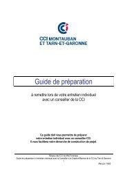 Guide de préparation - (CCI) de Montauban