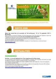 Lettre IIDD - avril 2013 - (CCI) de Montauban